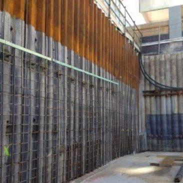 mixed pile wall